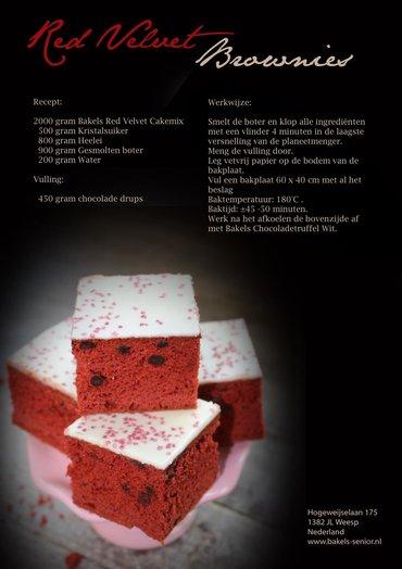 Recept Red Velvet brownies