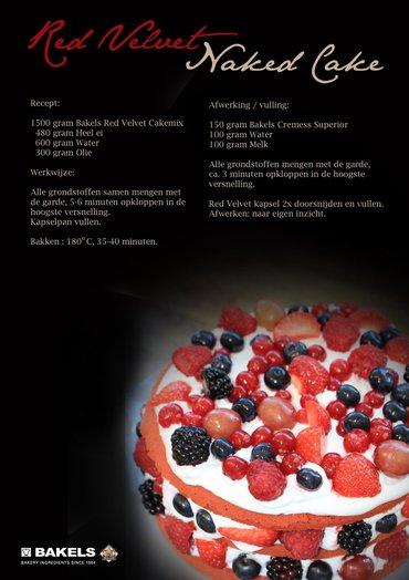 Recept Red Velvet naked cake