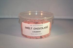 Smelt chocolade aardbeien 250 gram