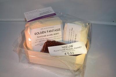 Golden fantasie plaatcake pakket met kaneel 1 kg